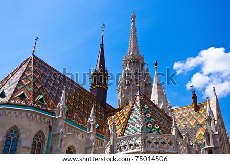 Matthias Church at Buda Castle in Budapest, Hungary - stock photo