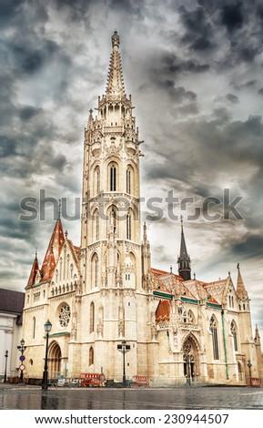 Matthias Church in Budapest, Hungary.  - stock photo