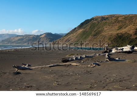 Mattole Beach in King Range National Conservation Area, California. - stock photo