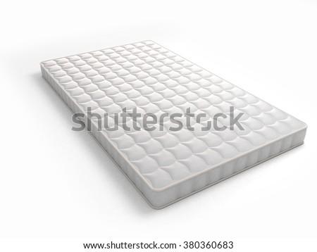Mattress isolated on white - stock photo