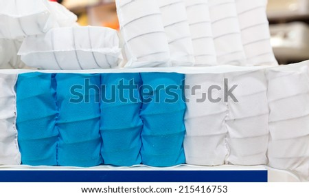 Mattress spring seal with colorful fabric - stock photo