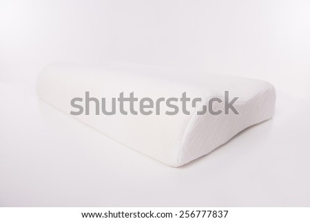 Mattress that supported you to sleep well all night isolated on white background. - stock photo