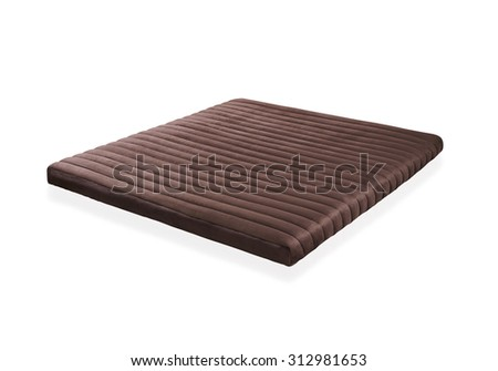 Mattress to supported back, the image isolated on white background - stock photo