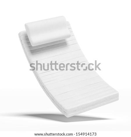 mattress with a pillow - stock photo
