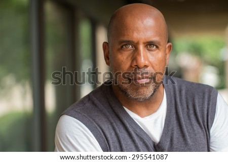 Mature African American Man - stock photo