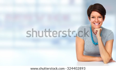 Mature business woman portrait. Accounting and finance. - stock photo