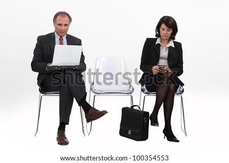 Mature businesspeople - stock photo