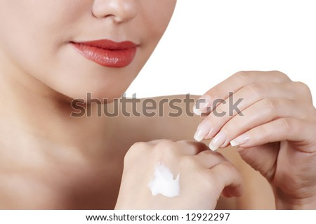 matutinal cream for hands - stock photo