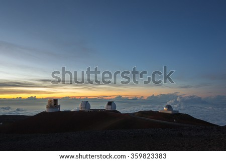 Maunakea observatory (Hawaii - big island) - stock photo