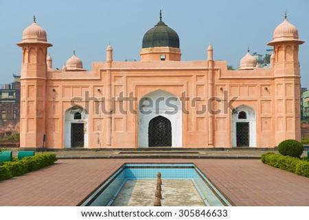 Mausoleum of Bibipari in Lalbagh fort, Dhaka, Bangladesh. - stock photo