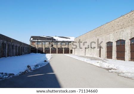 Mauthausen, death camp - stock photo