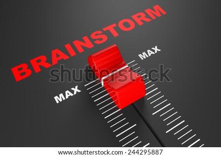 Max Brainstorm Value Mixer Slider extreme closeup - stock photo
