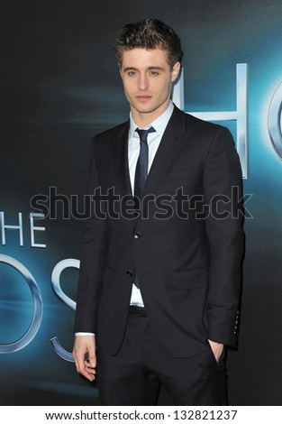 """Max Irons (son of Jeremy Irons) at the Los Angeles premiere of his movie """"The Host"""" at the Cinerama Dome, Hollywood. March 19, 2013  Los Angeles, CA Picture: Paul Smith - stock photo"""