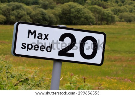 Max speed sign - stock photo
