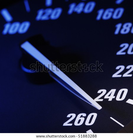maximum speed - stock photo
