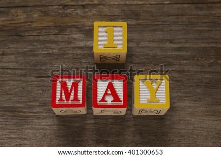May 1 Calendar - stock photo