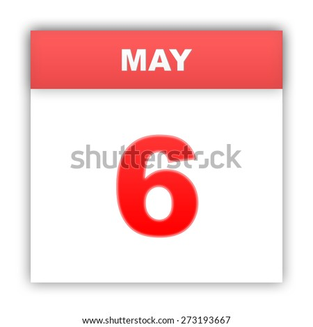 May 6. Day on the calendar. 3d - stock photo