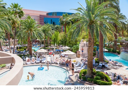 May 13, 2008 in Las Vegas, Nevada USA -las vegas mgm grand hotel - stock photo