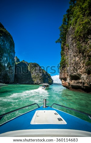 Maya bay, Phi-Phi island, Thailand - stock photo