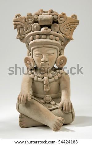 Mayan Clay Sculpture - stock photo
