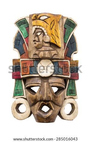 Mayan mask - stock photo
