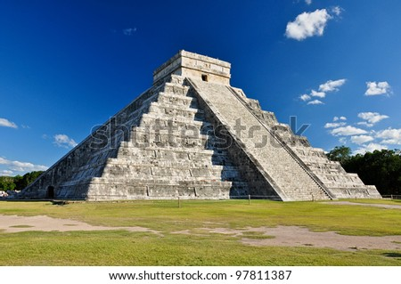 Mayan Ruin - Chichen Itza Mexico - stock photo