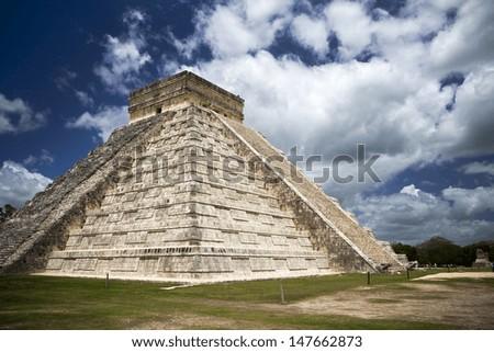Mayan ruins in Chichen Itza Mexico - stock photo