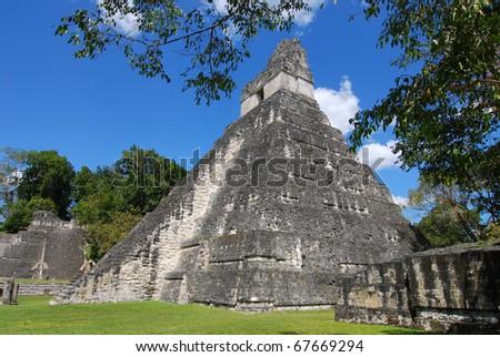 Mayan Ruins in Guatemala - stock photo