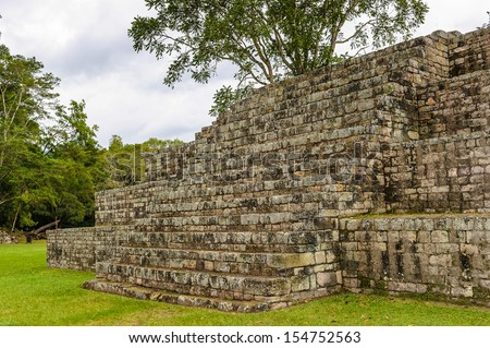 Mayan ruins of Copan, an archaeological site of the Maya civilization, Honduras - stock photo