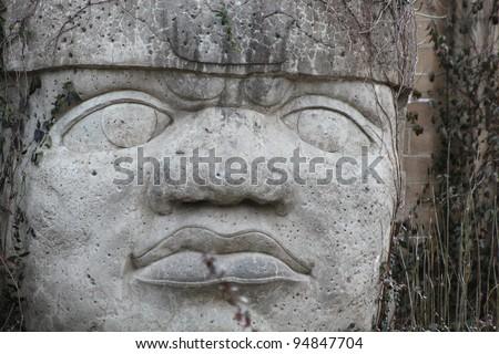 Mayan statue - stock photo