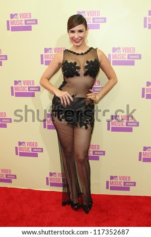 Mayra Veronica at the 2012 Video Music Awards Arrivals, Staples Center, Los Angeles, CA 09-06-12 - stock photo
