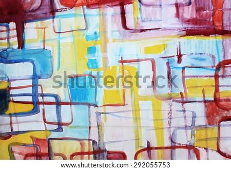 Maze background or Interesting background, Web background, Creative design, Colorful background, Creative background, Painted background, Postcard design, Cover design - stock photo