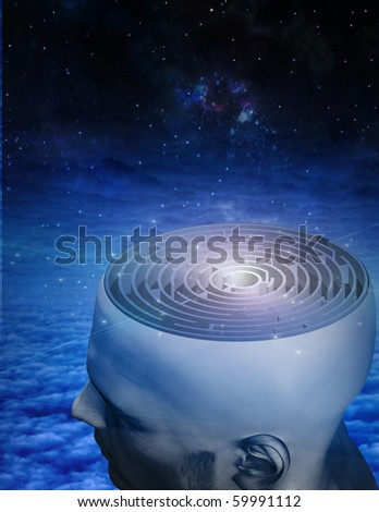 Maze Mind - stock photo