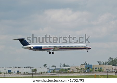 Mcdonnell Douglas MD-80 (DC-9) aircraft - stock photo