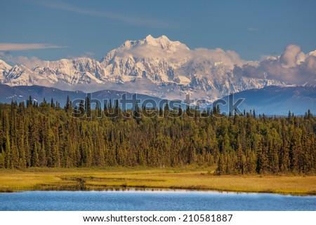 McKinley peak - stock photo