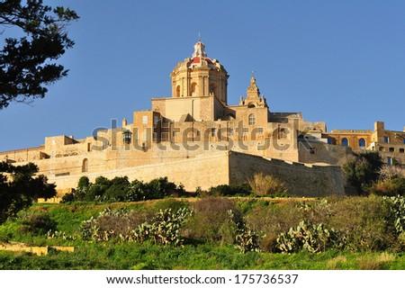 Mdina,Malta s ancient capital - stock photo