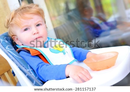 Meal time for toddlers  - stock photo