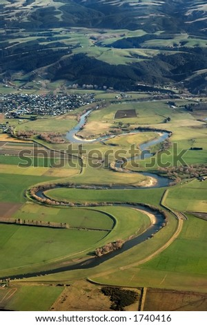 Meandering River - stock photo