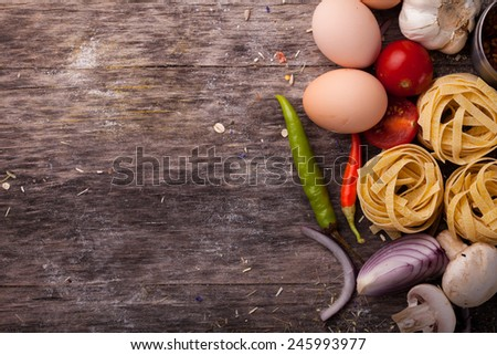Means for making traditional meal - stock photo