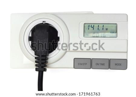 measuring energy cost - stock photo