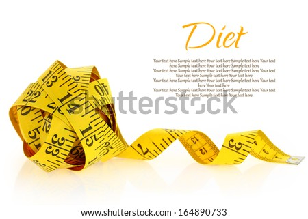 Measuring tape isolated on a white - stock photo