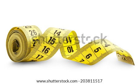 Measuring tape isolated on white background. Clipping Path - stock photo