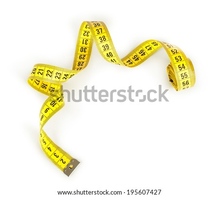 Measuring tape of the tailor for you design - stock photo