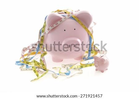 Measuring your savings - stock photo