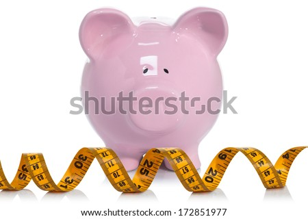 Measuring your savings account - stock photo