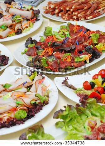 meat appetizers - stock photo
