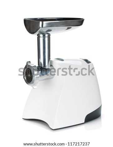 Meat chopper. Isolated on white background - stock photo