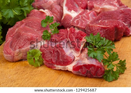 meat cow mark without the bone - stock photo