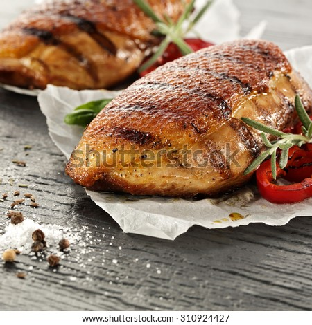 meat of duck and closeup  - stock photo