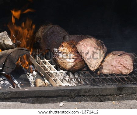 meat on grill - stock photo
